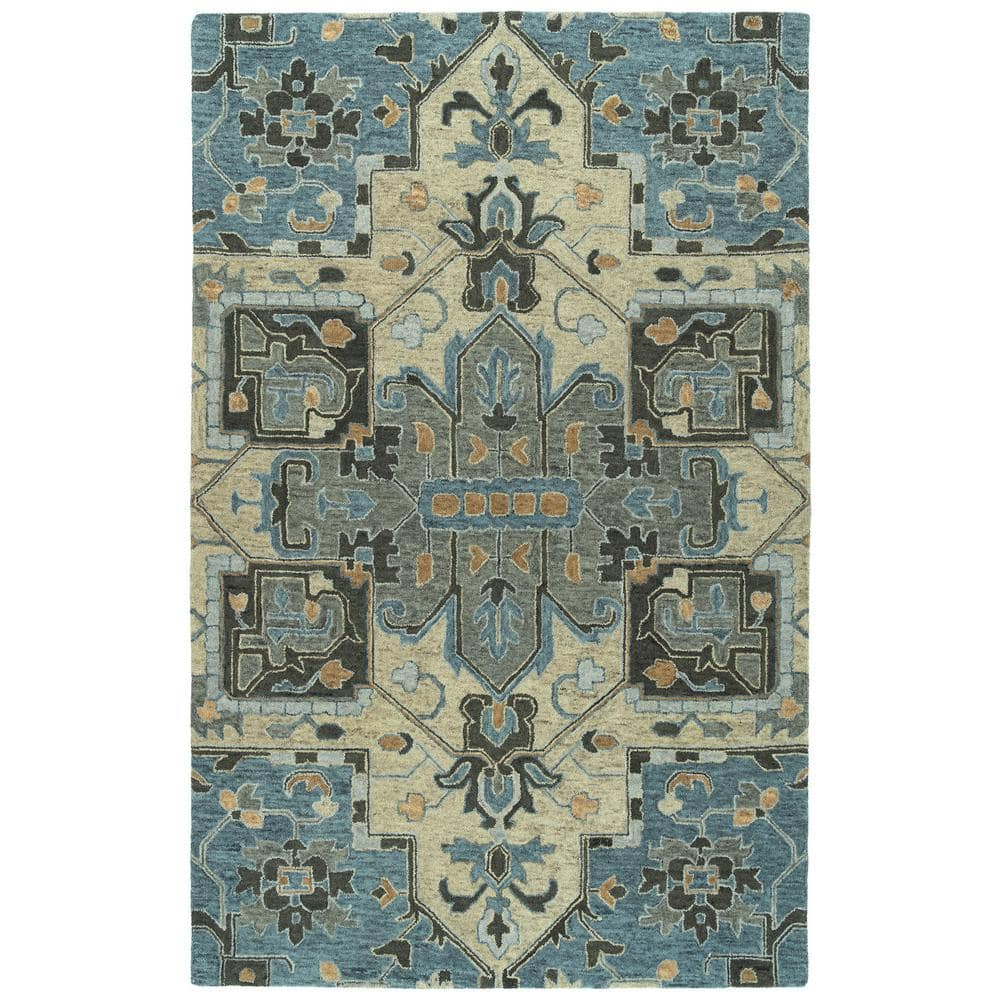 Kaleen Chancellor Blue 4 Ft X 6 Ft Area Rug Cha09 17 46 The Home Depot