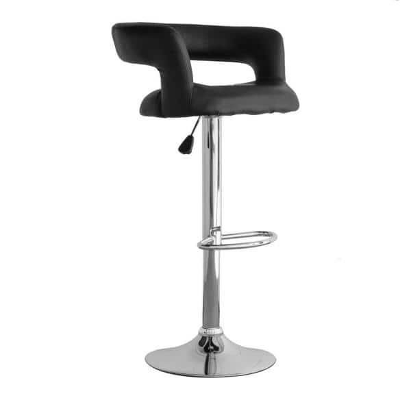 Amerihome Adjustable Height Chrome Swivel Cushioned Bar Stool Bs2440 The Home Depot