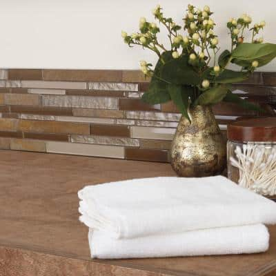 Stone Decor Rustic Slate 12 in. x 14 in. x 8 mm Stone and Glass Random Linear Mosaic Wall Tile (0.95 sq. ft./Each)
