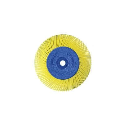 Sunburst - 6 in. TA Radial Discs - 1/2 in. Arbor - Thermoplastic Cleaning and Polishing Tool, Coarse 80-Grit (1-Pack)