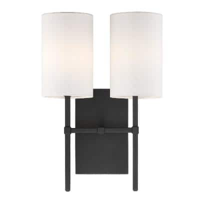 Veronica 2-Light Black Forged Sconce