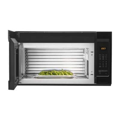 1.7 cu. ft. Over the Range Microwave with Stainless Steel Cavity in Black