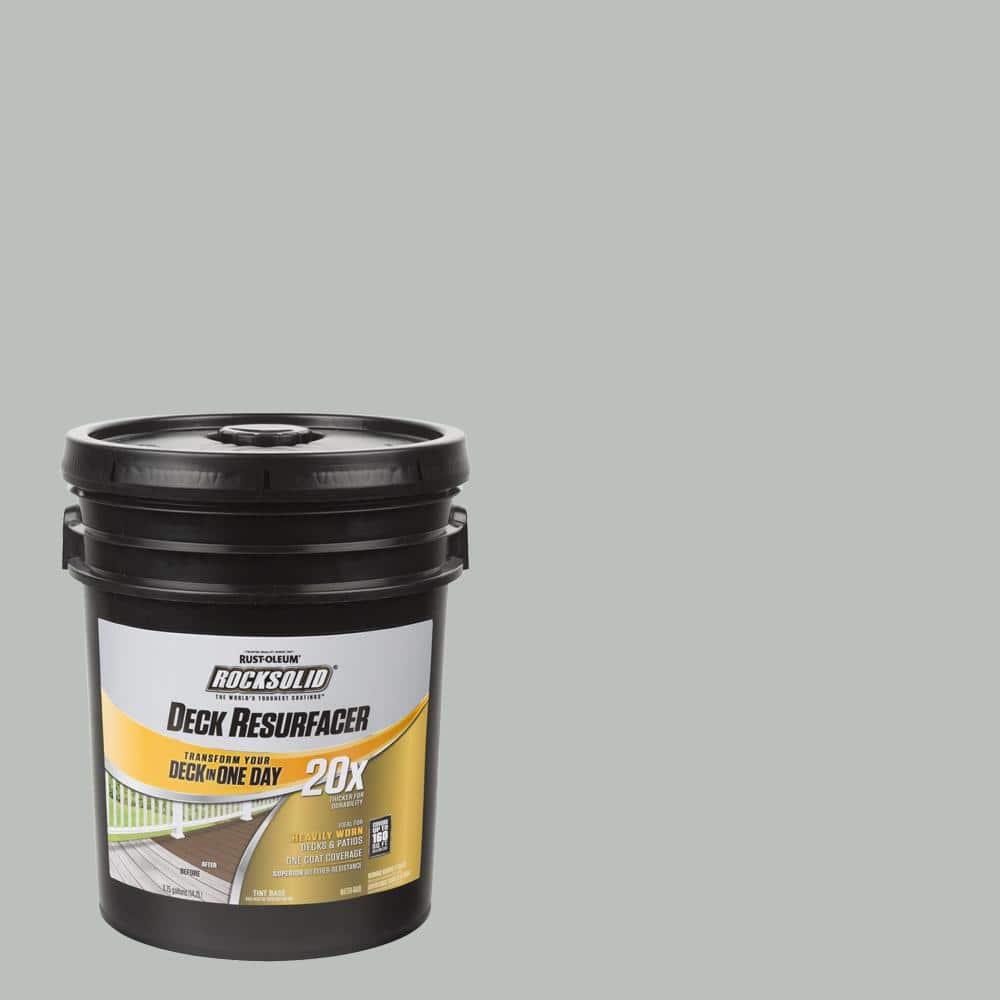 Rust-Oleum RockSolid 4 gal. Graywash Exterior 20X Deck Resurfacer