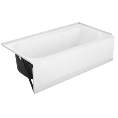 Maui 30 in. x 60 in. x 74 in. Bath and Shower Kit with Right Drain in White and Privacy Glass Door in Chrome