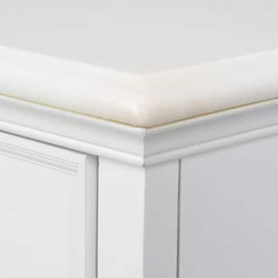 Hampton Harbor 48 in. W x 22 in. D Bath Vanity in White with Natural Marble Vanity Top in White