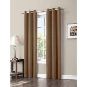 Taupe Woven Thermal Blackout Curtain - 40 in. W x 84 in. L