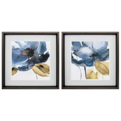 """""""BLUE NOTE S/2"""" Framed Wall Art of Nature 18 in. x 18 in."""