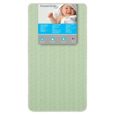 Bedtime 150 Ultra Coil Inner Green with Taffeta Spring Standard Crib and Toddler Bed Mattress