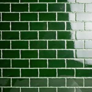 Novecento Verdin 2-1/2 in. x 5-1/8 in. Ceramic Subway Wall Tile (6.16 sq. ft. / case)