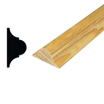 WM 134 11/16 in. x 1-3/8 in. x 96 in. Solid Pine Astragal Moulding