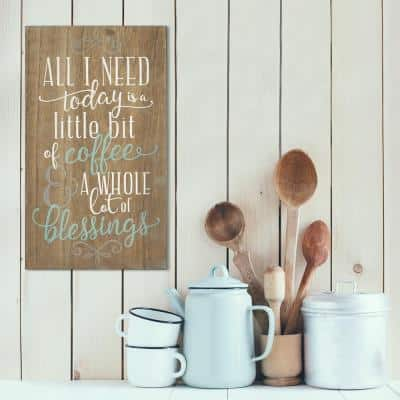 Coffee and Blessings Decorative Sign