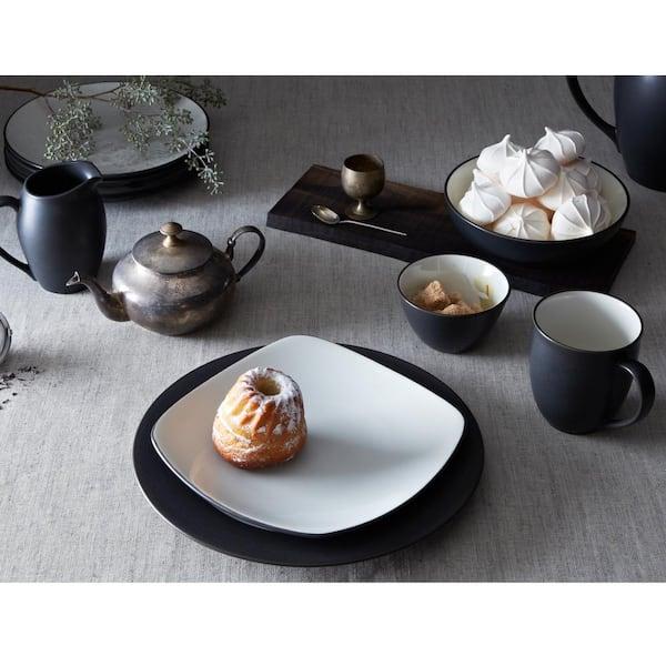"Black enamel bowl bowls SET OF 4 EWR021 6/"" 15cm"