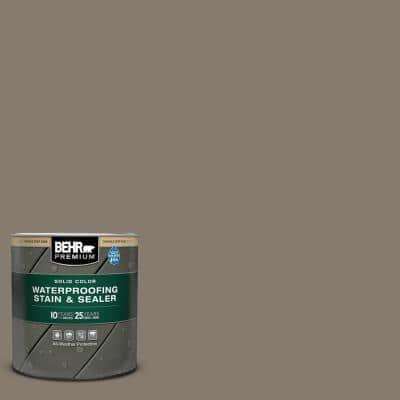 1 qt. #SC-159 Boot Hill Grey Solid Color Waterproofing Exterior Wood Stain and Sealer