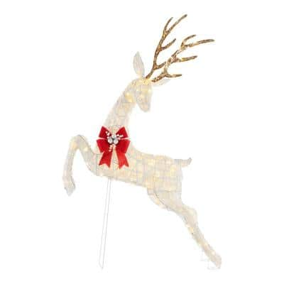 5.5 ft. 160-Light LED Jumping Deer Outdoor Christmas Decor