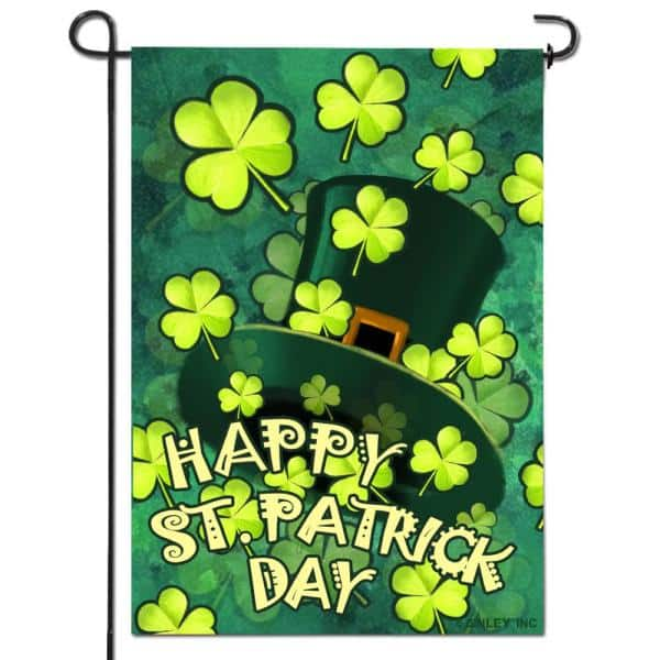 Anley 18 In X 12 5 In Double Sided Happy St Patrick S Day Decorative Garden Flag A Flag Garden Stpatrick The Home Depot
