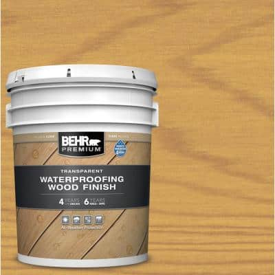 5 gal. Clear Transparent Waterproofing Exterior Wood Finish
