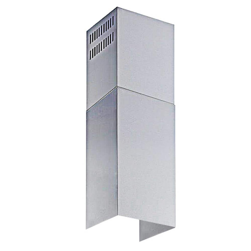 Winflo Stainless Steel Chimney Extension Up To 11 Ft Ceiling For Wall Mount Range Hood Wrhce03 The Home Depot