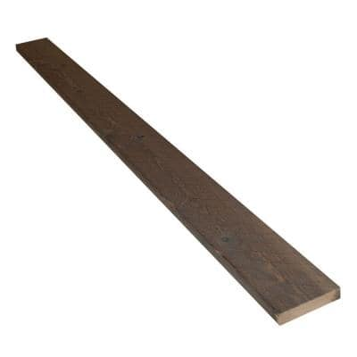 Montana Ghost 1 in. x 4 in. x 8 ft. Silver City Weathered Wood Trim Board