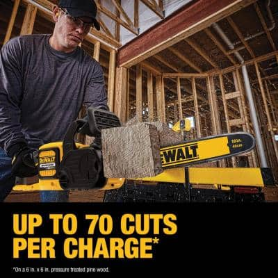 16 in. 60V MAX Cordless FLEXVOLT Brushless Chainsaw w/ (1) 3.0Ah Battery & Charger with Bonus Hedge Trimmer (Tool Only)