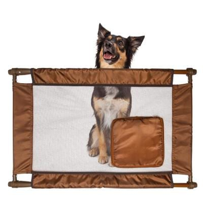 Brown Porta-Gate Travel Collapsible and Adjustable Folding Pet Cat Dog Gate