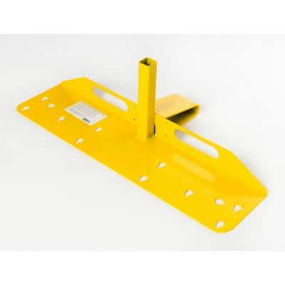 Open Edge Guardrail System Bracket and Post