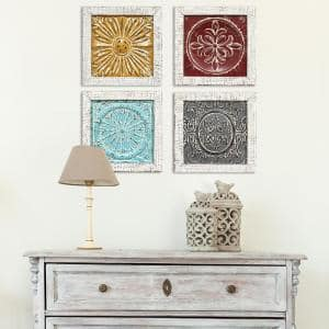 Accent Metal Tile Wall Art (Set of 4)