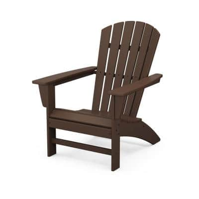 Grant Park Traditional Curveback Mahogany Plastic Outdoor Patio Adirondack Chair