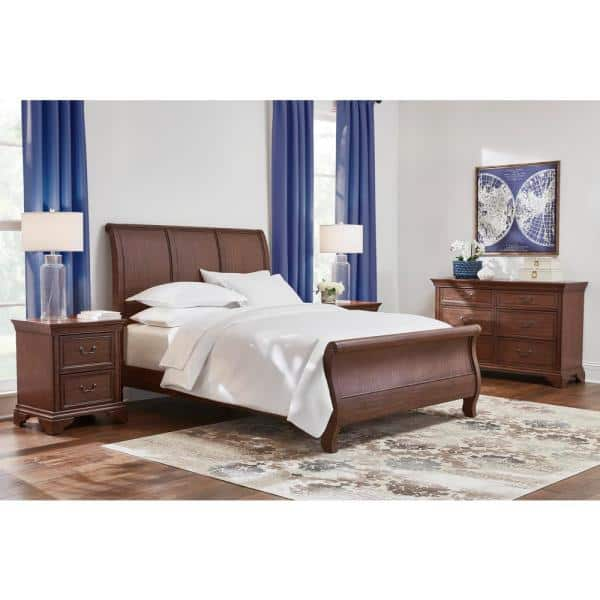 Home Decorators Collection Beckford, Walnut Sleigh Bed Queen