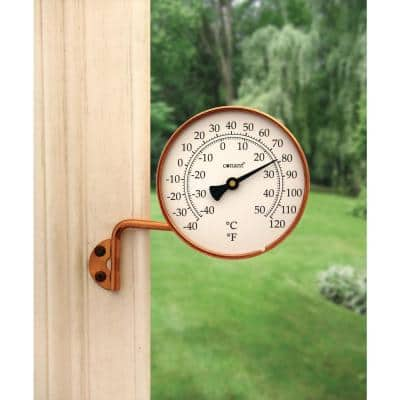 Vermont Dial Thermometer Living in Copper