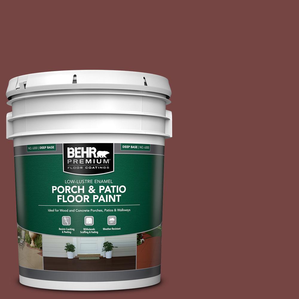 5 gal. #S130-7 Cherry Cola Low-Lustre Enamel Interior/Exterior Porch and Patio Floor Paint