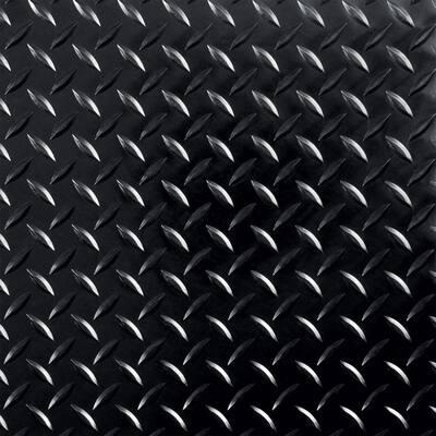 RaceDay Diamond Tread Midnight Black 12 in. x 12 in. Peel and Stick Polyvinyl Tile (20 sq. ft. / case)