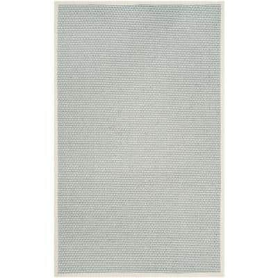 Natural Fiber Silver/Gray 5 ft. x 8 ft. Border Area Rug