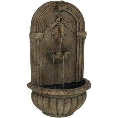 Florence Florentine Stone Electric Powered Wall Fountain