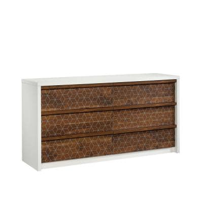 Harvey Park 6-Drawer Soft White Dresser