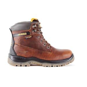 Men's Titanium Waterproof Work Boots - Steel Toe - Brown Size 8(W)