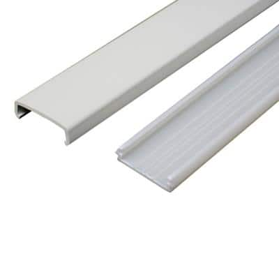 Wiremold Non-Metallic PVC Raceway 5 ft. Wire Channel, White