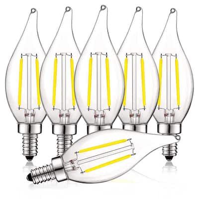 40-Watt Equivalent CA11 Dimmable LED Light Bulbs UL Listed 5000K Bright White (6-Pack)