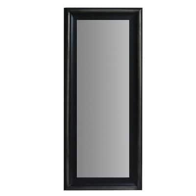 Oversized Brown Wood Modern Mirror (67 in. H X 27.5 in. W)