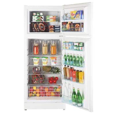 14 cu. ft. Propane Top Freezer Refrigerator Dual Power in White (Propane/110-Volt)