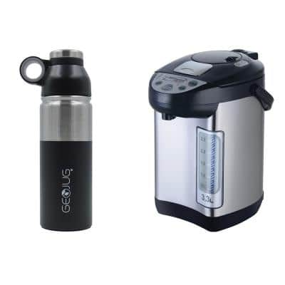 14-Cup Stainless Steel Instant Hot Water Dispenser and GeoJug 2.25-Cup Stainless Steel Vacuum-Insulated Water Bottle