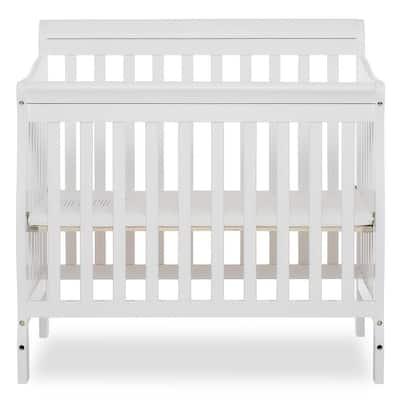 Aden White 4-in-1 Convertible Mini Crib