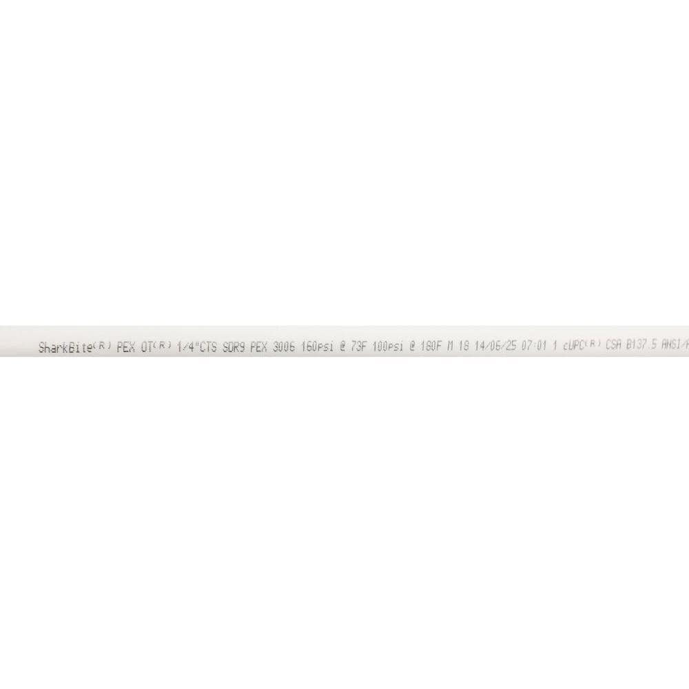 Sharkbite 1 4 In 3 8 In O D X 5 Ft Straight White Pex Pipe U850w5 The Home Depot
