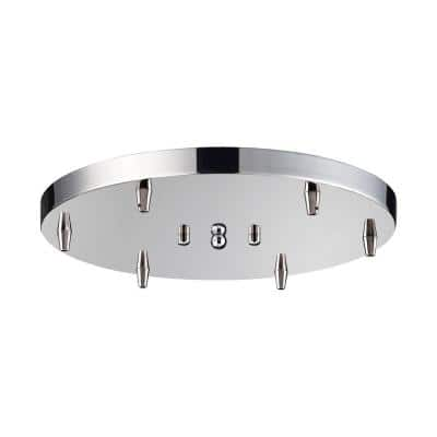 Illuminaire Accessories 14 in. 6-Light Round Polished Chrome Ceiling Pan
