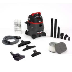 14 Gal. 2-Stage HEPA Commercial Wet/Dry Shop Vacuum with Filter, Dust Bag, Professional Hose and Accessories