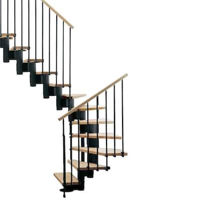 """Kompact 35 in. Black Modular Staircase """"U"""" Kit"""