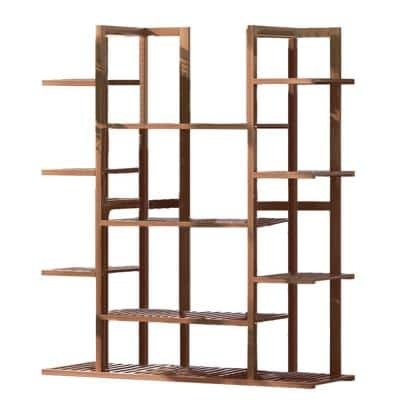 7-Tier Bamboo Shelf Flower Garden Indoor Outdoor Pot Plant Stand