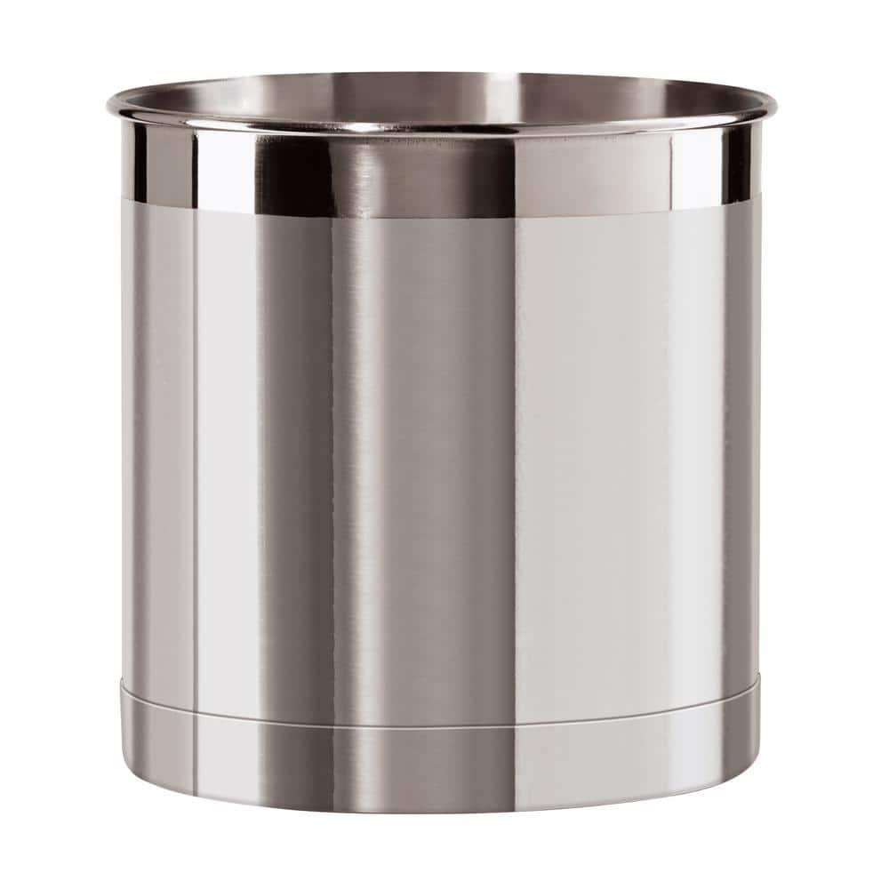 Oggi Jumbo Utensil Holder In Stainless Steel 33022930 The Home Depot