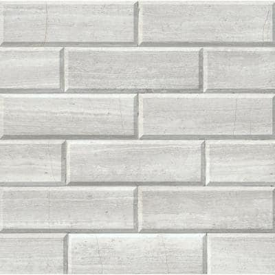 White Oak 4 in. x 12 in. Honed and Beveled Marble Wall Tile (5 sq. ft. / case)