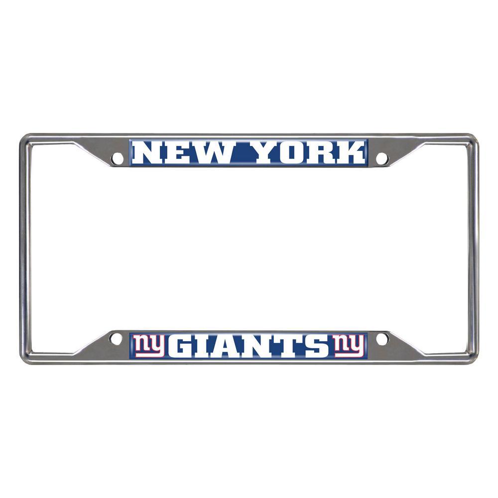 NFL - New York Giants Chromed Stainless Steel License Plate Frame