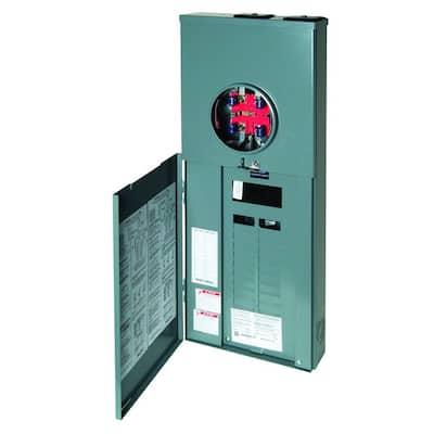 Homeline 200 Amp 20-Space 40-Circuit Outdoor Ringless-Horn Overhead/Underground Main Breaker CSED